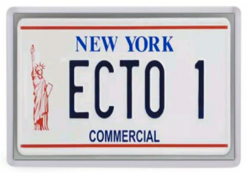 Ecto 1 License Plate Fridge Magnet. Ghostbusters